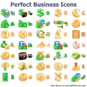 Perfect Business Icons Image