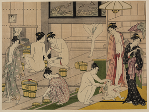 Bathhouse Women Diptych. Image