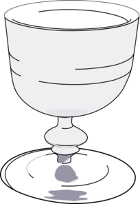 Wine Glass Black And White Clip Art