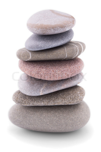 Pile Of Pebble Stones Over Image