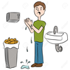 Towel And Basin Clipart Image