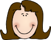 Smiling Lady Face Clip Art