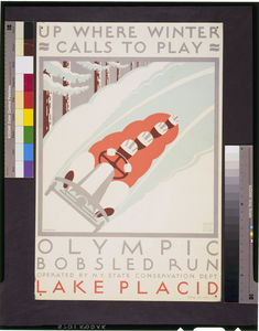 Up Where Winter Calls To Play Olympic Bobsled Run Lake Placid / J. Rivolta. Image