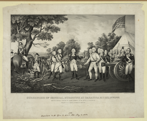 Surrender Of General Burgoyne At Saratoga N.y. Oct. 17th. 1777 Image