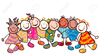Kids Smiling Faces Clipart Image