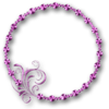 Glossy Pink Frame Purple Filigree No Back Image