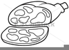 Ham Clipart Black And White Image
