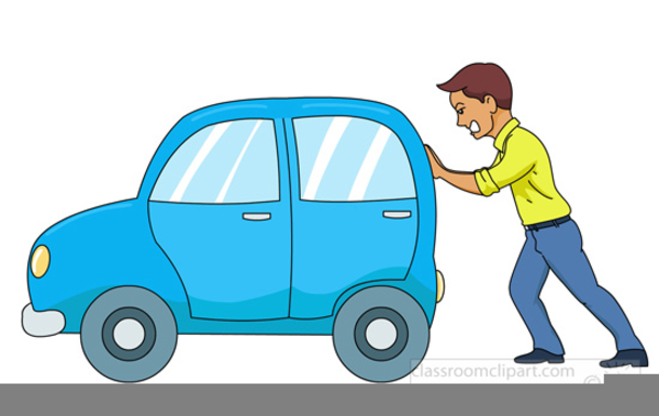 clipart pushing a car free images at clker com vector clip art