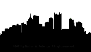 Pittsburgh Skyline Silhouette Dpi Image