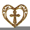 Cross And Heart Clipart Image
