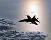 An F/a-18 Hornet From Strike Fighter Squadron One Five (vfa-15) Patrol The Skies Over The Eastern Mediterranean Image