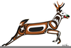 Pacific Northwest Indian Clipart Image