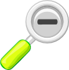 Zoom Out Lens Icon Clip Art