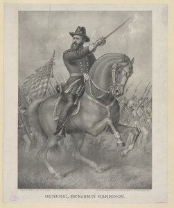 General Benjamin Harrison-- Come On Boys!  - Battle Of Resaca - May 13th To 16th 1864 Image