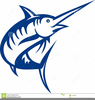 Blue Fish Clipart Image