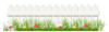 Transparent White Fence With Grass Png Clipart Image