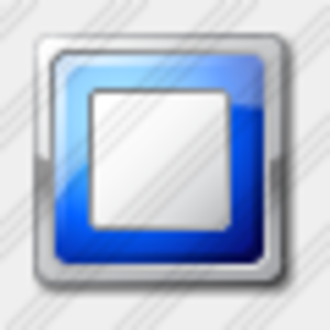 Icon Media Stop Blue Image