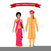 Women In Ethnic Clothing Clipart Image