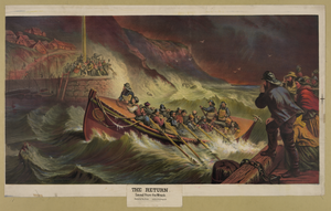 The Return, Or Saved From The Wreck  / Painted By Thos. Brooks ; Armstrong & Co. Lith. Boston. Image