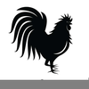 Fighting Rooster Clipart Image