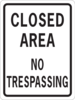 Closed Area No Trespassing Clip Art