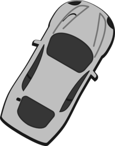 Gray Car - Top View - 60 Clip Art