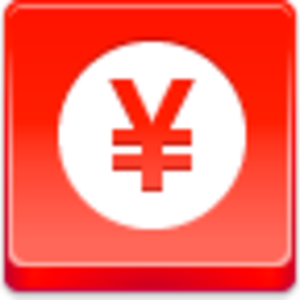Free Red Button Icons Yen Coin Image