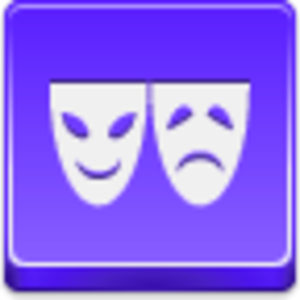 Free Violet Button Theater Symbol Image