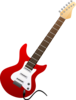 Electric Guitar Red Image