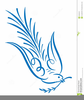Cross And Doves Clipart Image
