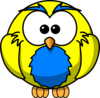 Yellow And Blue Hoot  Clip Art