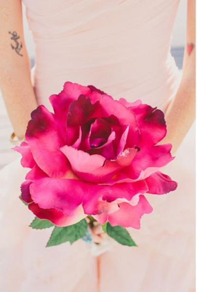 Water paint paper flowers via green wedding shoes free for Painted paper flowers
