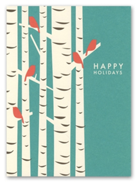 Birch tree holiday cards by snow and graham free images