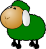 Green Sheep Clip Art