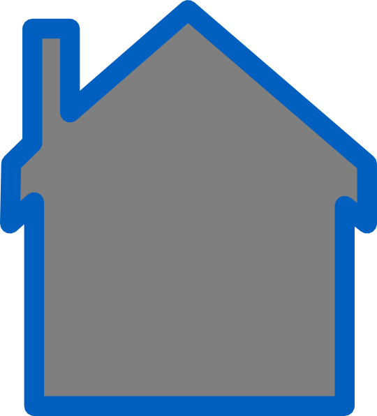 clip art blue house - photo #22