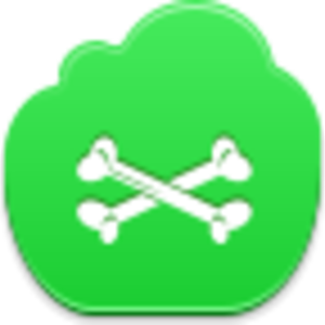 Free Green Cloud Bones Image