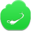 Free Green Cloud Aladdin Lamp Image