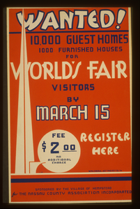 Wanted! 10,000 Guest Homes, 1000 Furnished Houses For World S Fair Visitors By March 15  / G.w. Image