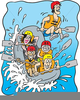 White Water Rafting Clipart Free Image