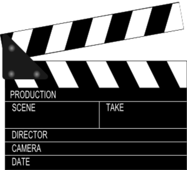movie clapper free images at clkercom vector clip art
