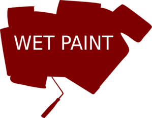 Wet Paint Sign Bold Clip Art