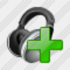 Icon Ear Phone Add Image