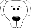 Dog Face Cartoon World Label Clip Art