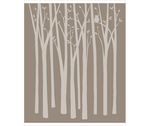 Birch Trees Wall Mural Image