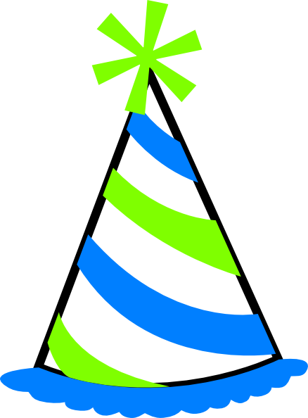 green and blue party hat clip art at clker com vector clip art rh clker com party hat clip art free party hat clip art black and white
