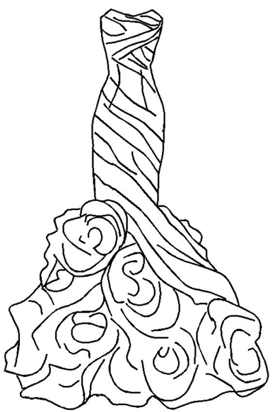 dress outline coloring pages - photo#33