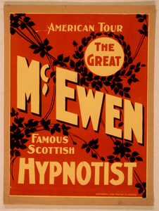 The Great Mcewen, Famous Scottish Hypnotist Image