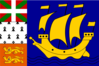 Variation Of The Flag Of Saint Pierre And Miquelon Clip Art