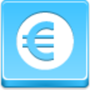 Free Blue Button Icons Euro Coin Image