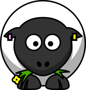Sheep With Uk Eid Tags Clip Art